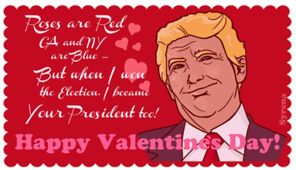 Smug Trump Valentine by SlayerSyrena