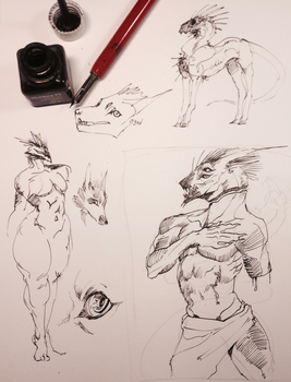 scribbles with 5 year old ink by Remarin