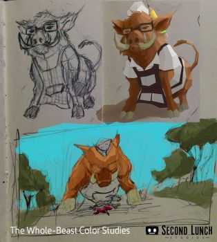 Whole Beast Concept + Color Study by Hoabert