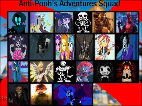 My Anti Pooh Adventure Squad ( Meme ) by LoonyArtist96