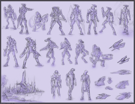 Covenant sketchdump 1 by The-Chronothaur
