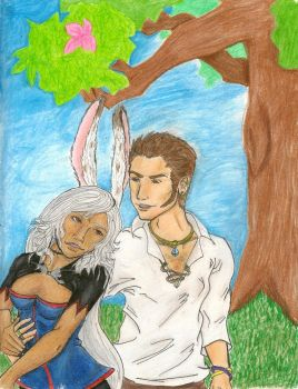 Fran and Balthier by killer-rabbit-05