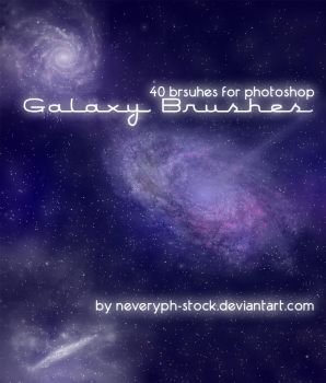 Galaxy Brushes by Neveryph-stock