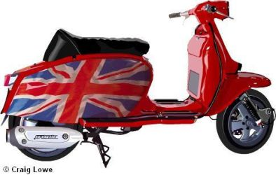 Lambretta Scooter by Craig-Lowe