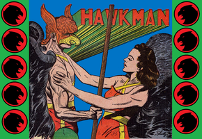Golden Age Hawkman and Hawkgirl By Sheldon Moldoff by Vampirewiccan