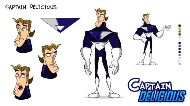 Captain Delicious model sheet by nachotoonz