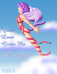 Your Love Gives Me WINGS by InstantCoffeeBarista