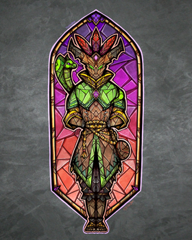 Stained Glass Mal'damba by TheStarBear