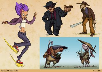 Various character designs by RichardVatinel