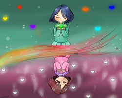 my two sides (Glitchtale) by CuteEmily44464