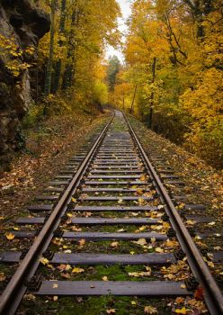 Autumn rails by wosicz