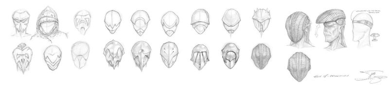 Sith Masks and Helmets Phases I thru V by mavartworx
