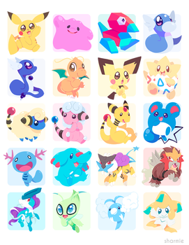 Poke Stickers 04 by ChocoChaoFun