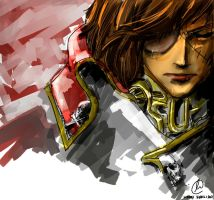 Space Pirate Captain Harlock 3D by UmiInoue