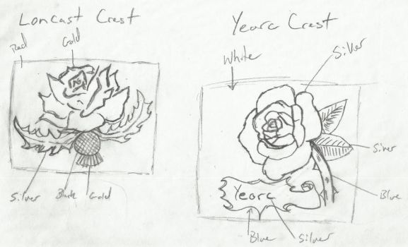 Roses of War Concept Crests I by DareSmithCreations