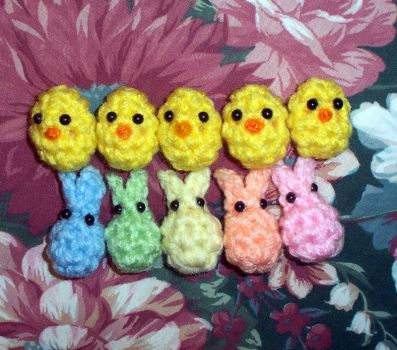 Assorted EasterBeans Mini Plushies by happysquidmuffin