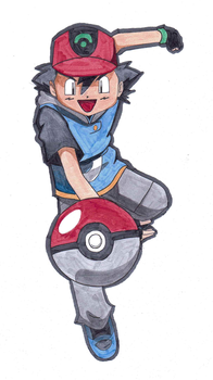 Gotta Catch 'Em All! (Copic Experiment) by Murtaghje