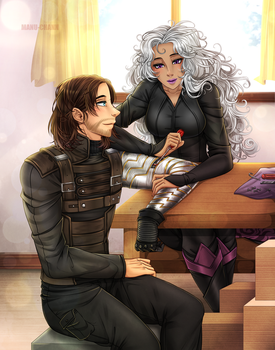 Commission: Evelyn and Bucky by manu-chann