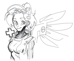 mercy doodle by GourmetPaper