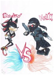 Shadow The Hedgehog VS Hank :REQUEST: by Barusak999