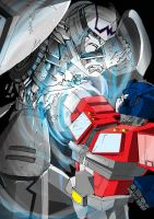 MEGATRON vs OPTIMUS PRIME by ReggieBear19