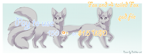 Fox and Kitsune // Pay to Use// by Belliko-art