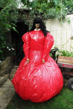 inflating the large crinoline 2 by puncturegown