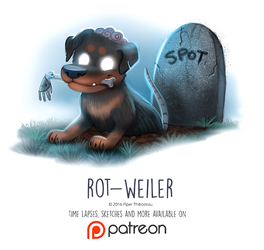 Day 1432. Rot-Weiler by Cryptid-Creations