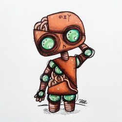 Little robot by Vanilly0Z