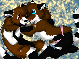 Art Trade: Skylar and Milla by Firewolf-Anime