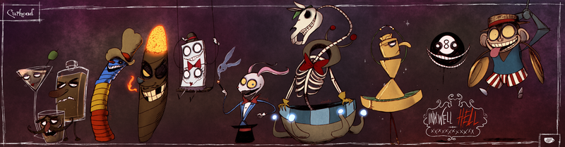 Cuphead - The Bosses of The King's Court by Atlas-White
