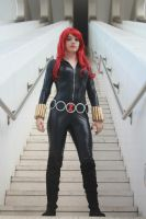 Black widow yamashita version cosplay marvel by Ychigo