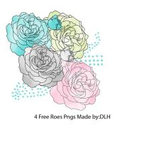 4 Free Rose Pngs by toxiclolley88