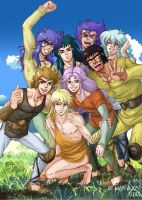 Young Gold Saints by Manechan