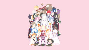 Character Wallpaper (Re: Zero) Minimalistic by Ancors