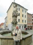 Ingeline at fountain in Goerlitz by ingeline-art