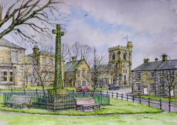 Armstrong Cross, Rothbury, Northumberland. by jeffsmith1955