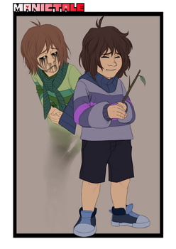 Manictale Character Design - Frisk and Chara by Ink-Mug