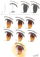 How to draw + color eyes by Kiroko-chi
