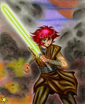 Cutey Honey Jedi by ZiemosPendric