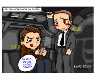Capitan America y Phil Coulson by KamiTovar