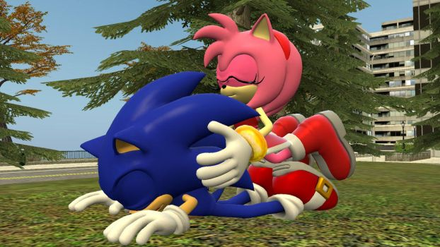[SFM] Amy hugs Sonic by Yoshifan163