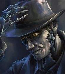 Nick Valentine by Lei-Ren