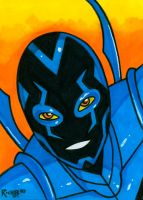 Sketchcard Blue Beetle 2 by RichBernatovech