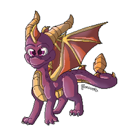 Cute little Spyro by floravola