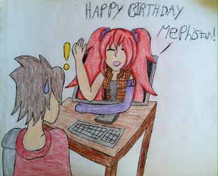 Birthday Gift For xMephistanx by VeronicaPrower