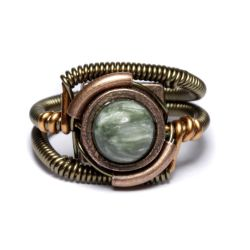 Steampunk Seraphinite Ring by CatherinetteRings