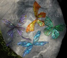 the elements as faery wings by S0WIL0