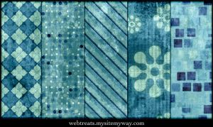 Grungy Teal Tileable Patterns by WebTreatsETC