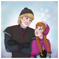 Frozen - Kristoff and Anna by Lucy--C